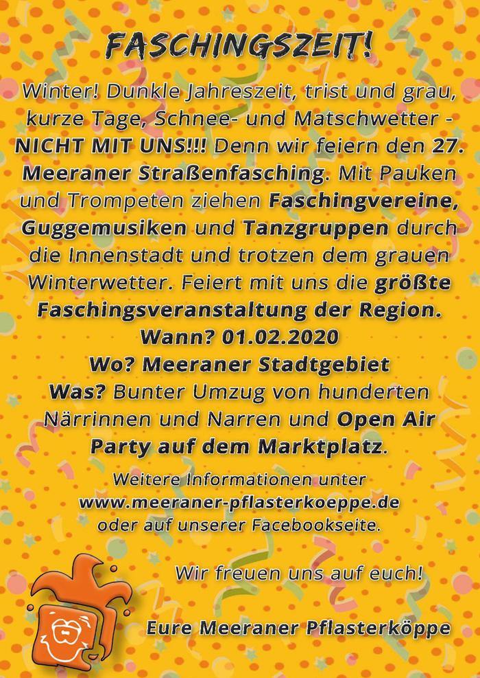 Flyer 2020-2 in 27. Straßenfasching
